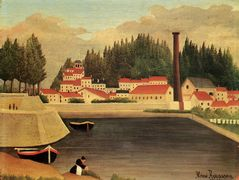 Village near a Factory – Henri Rousseau