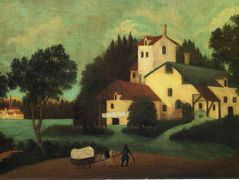 Wagon in Front of the Mill – Henri Rousseau