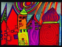 637A  Waiting Houses  – Friedensreich Hundertwasser