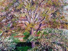 Wallnut and Apple Trees in Bloom at Eragny – Camille Pissarro