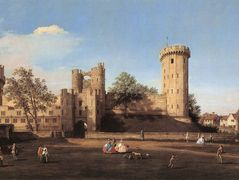 Warwick Castle: the East Front – Canaletto