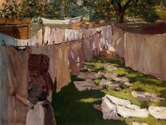 Wash Day – A Back Yard Reminiscence of Brooklyn – William Merritt Chase