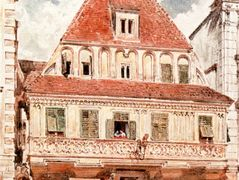 Watercolour of Steyr Bummerlhaus – Rudolf von Alt