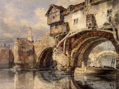 Welsh Bridge at Shrewsbury — William Turner