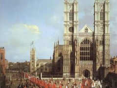 Westminster Abbey, with a Procession of Knights of the Bath – Canaletto