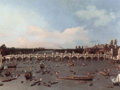 Westminster Bridge from the north on Lord Mayor's Day – Canaletto
