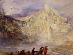 Wilderness A Engedi & Convent of Santa Saba  — William Turner