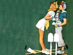 Willie Gillis Girls with Letters – Norman Rockwell