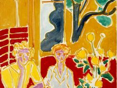 wo Girls in a Yellow and Red Interior – Henri Matisse