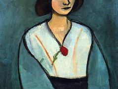 Woman in Green with a Carnation – Henri Matisse