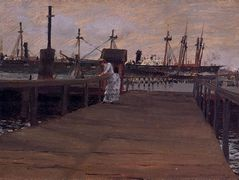 Woman on a Dock – William Merritt Chase