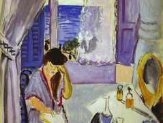 Woman Reading at a Dressing Table (Interieur, Nice)   – Henri Matisse