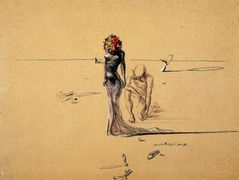 Woman with Flower Head – Salvador Dali