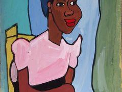 Woman with Pink Blouse in Yellow Chair – William H. Johnson