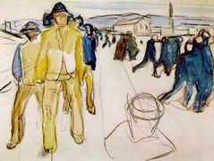 Workers on their way home I — Edvard Munch