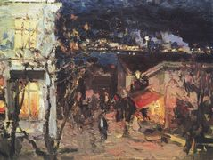 Yalta at night  – Konstantin Korovin
