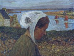 Young Breton at the Seaside – Henri Martin