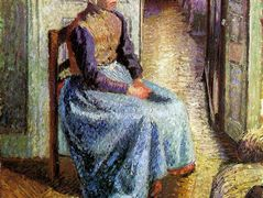 Young Flemish maid – Camille Pissarro