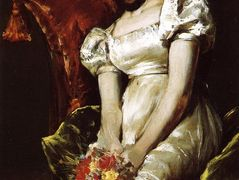 Young Girl with Flowers – William Merritt Chase