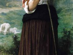 Young Shepherdess Standing – William-Adolphe Bouguereau