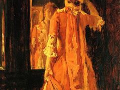 Young Woman Before a Mirror – William Merritt Chase