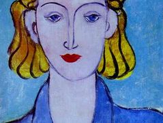 Young Woman in a Blue Blouse (Portrait of L.N. Delektorskaya)  – Henri Matisse