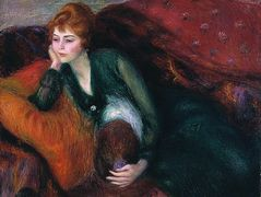 Young Woman in Green  – William James Glackens