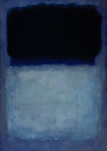 """""""Green on Blue"""" (1956). Credit The University of Arizona Museum of Art, Gift of Edward J. Gallagher Jr."""