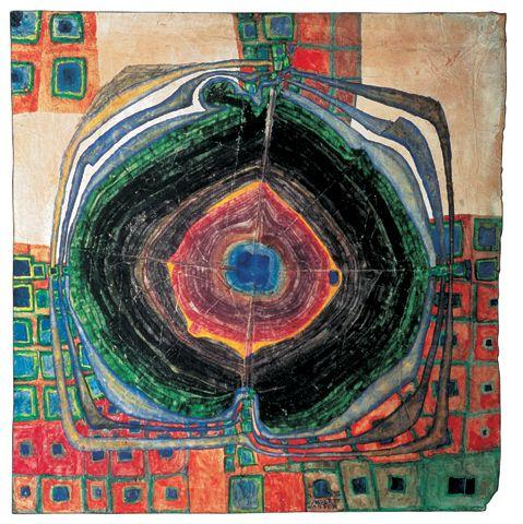 #227 - A Raindrop Which Falls Into The City - Friedensreich Hundertwasser