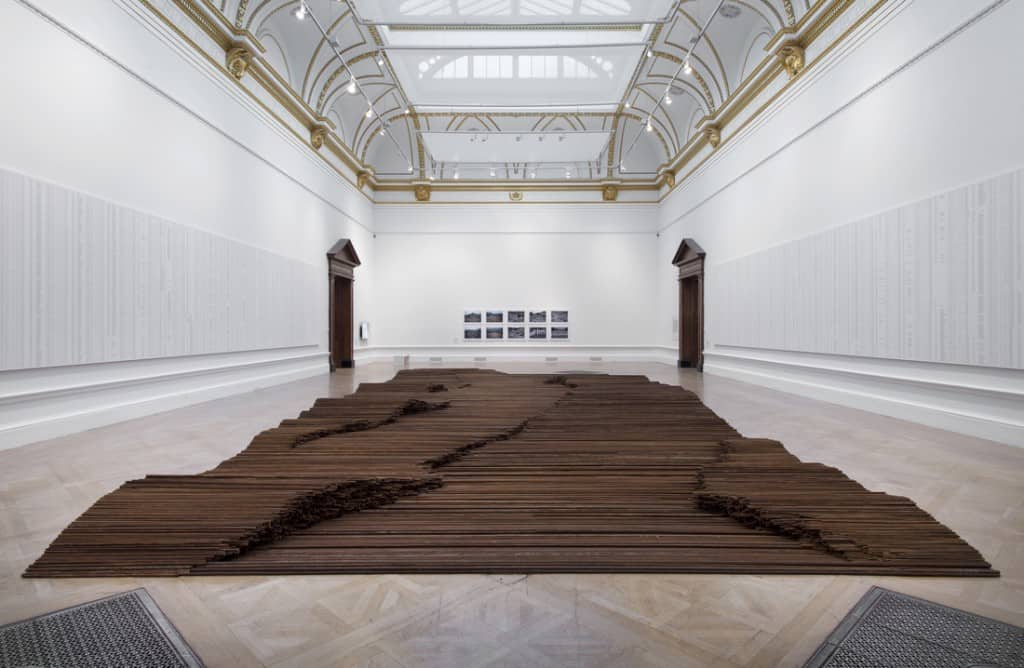 Installation view of Ai Weiwei, Straight, 2008-2012, at Royal Academy. Photo by Royal Academy of Arts, London. Courtesy of Ai Weiwei Studio.
