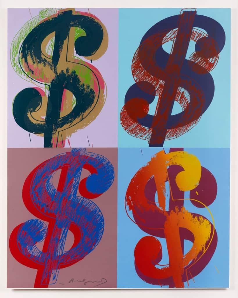 Andy Warhol $ (Quadrant), 1982