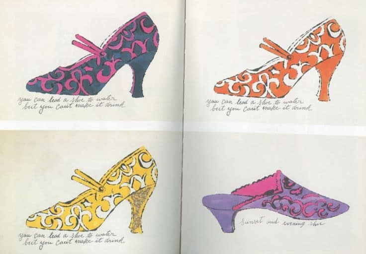 Andy Warhol's early shoe illustrations