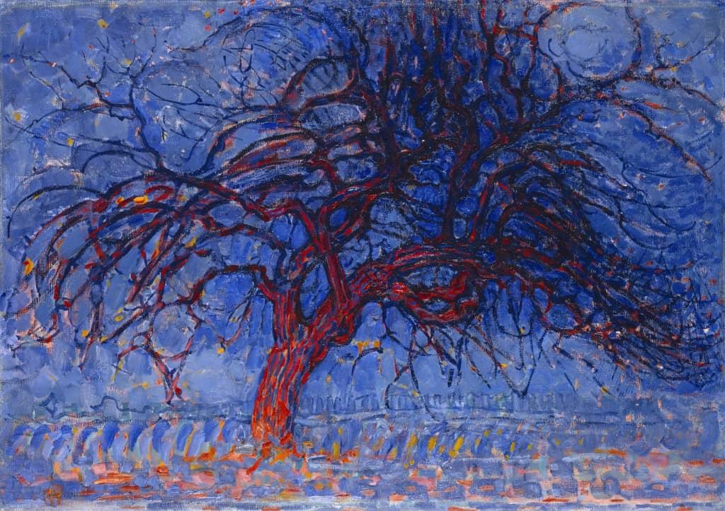 Avond (Evening); Red Tree by Piet Mondrian