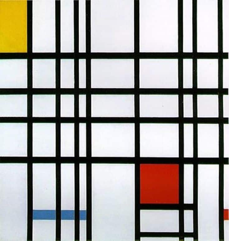 Composition with Red, Blue, and Yellow by Piet Mondrian