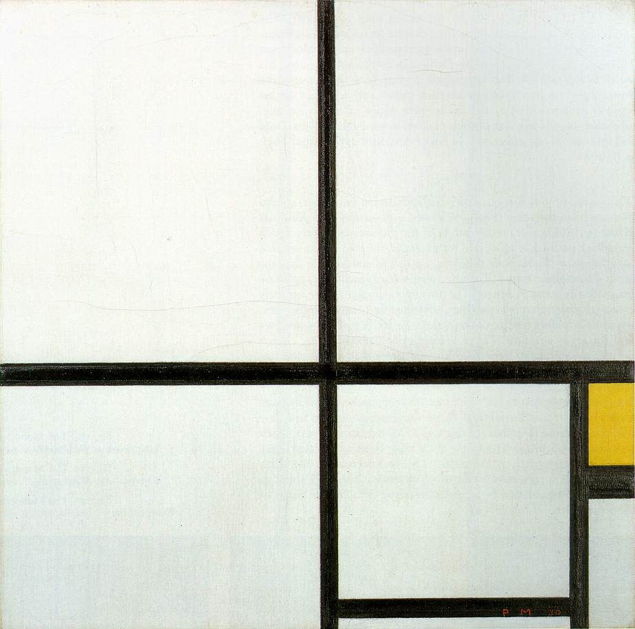 Composition with Yellow Patch by Piet Mondrian