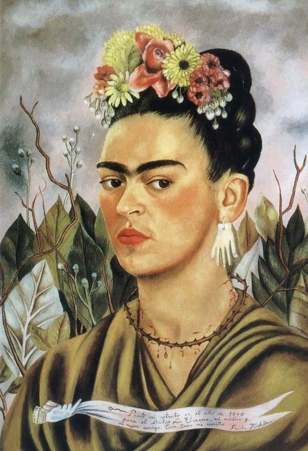 FRIDA KAHLO (1907-1954) 'Self Portrait', 1940 (oil on board)