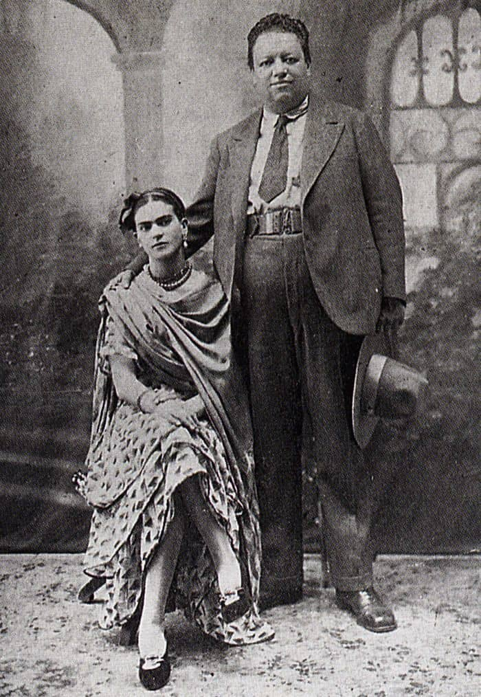 FRIDA KAHLO and DIEGO RIVERA 'Wedding Photograph', 1929