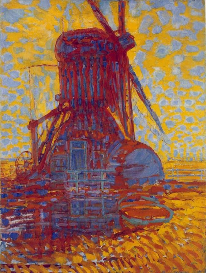 Molen (Mill); Mill in Sunlight, 1908, Oil on canvas, 114 x 87 cm, Haags Gemeentemuseum, The Hague.