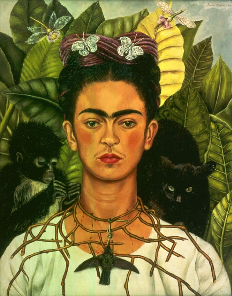 FRIDA KAHLO (1907-1954) 'Self Portrait with Thorn Necklace and Hummingbird' 1940 (oil on canvas)