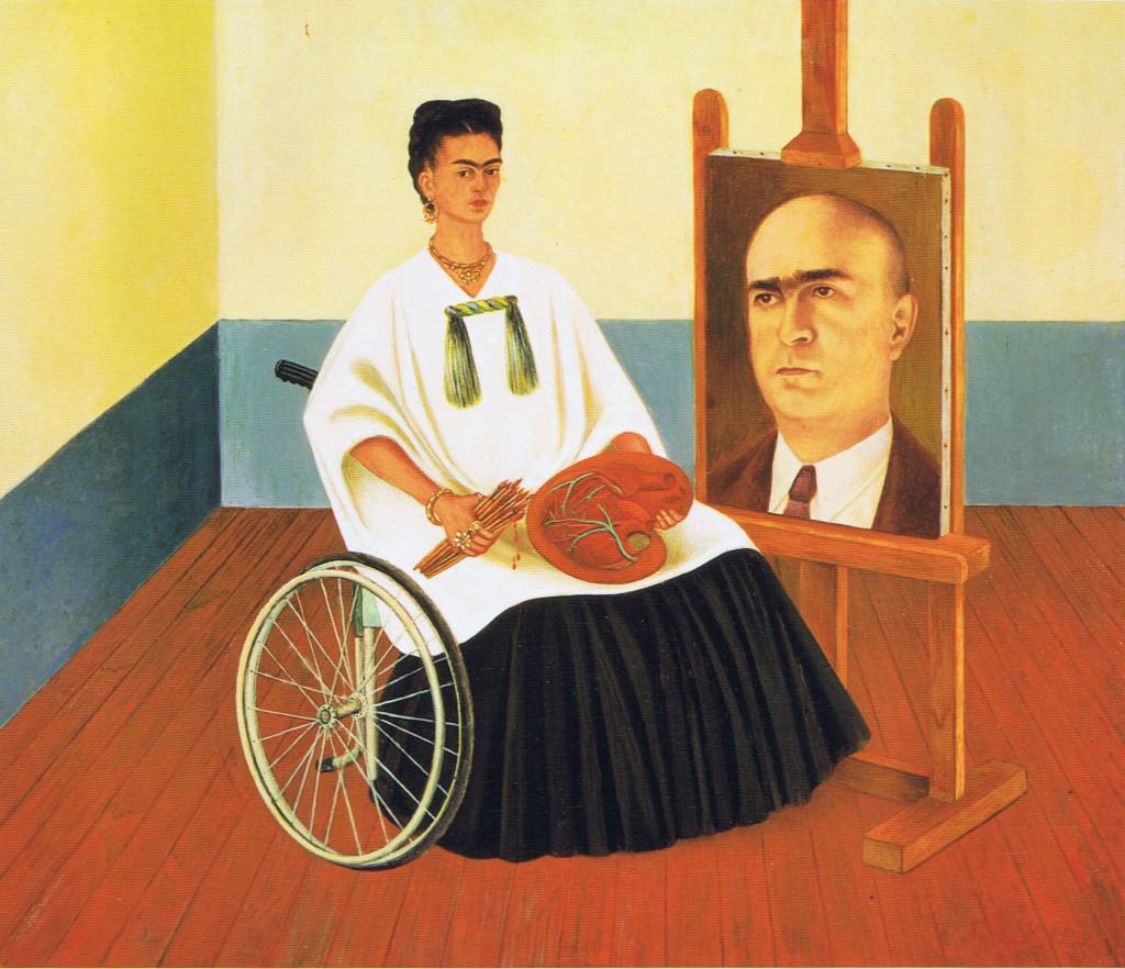 FRIDA KAHLO (1907-1954) 'Self Portrait with the Portrait of Doctor Farill', 1951 (oil on board)