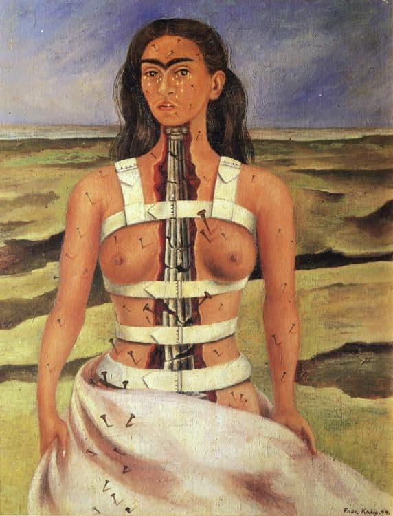 FRIDA KAHLO (1907-1954) 'The Broken Column', 1944 (oil on board)