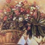 A basket with flowers – Zinaida Serebriakova