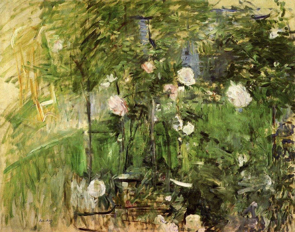 A Corner Of The Rose Garden - Berthe Morisot