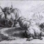 A Cow and Three Sheep – Adriaen van de Velde