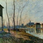 A February Morning at Moret sur Loing – Alfred Sisley
