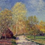 A May Morning in Moret – Alfred Sisley
