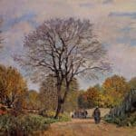 A Road in Seine et Marne – Alfred Sisley