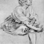 A Seated Woman – Antoine Watteau