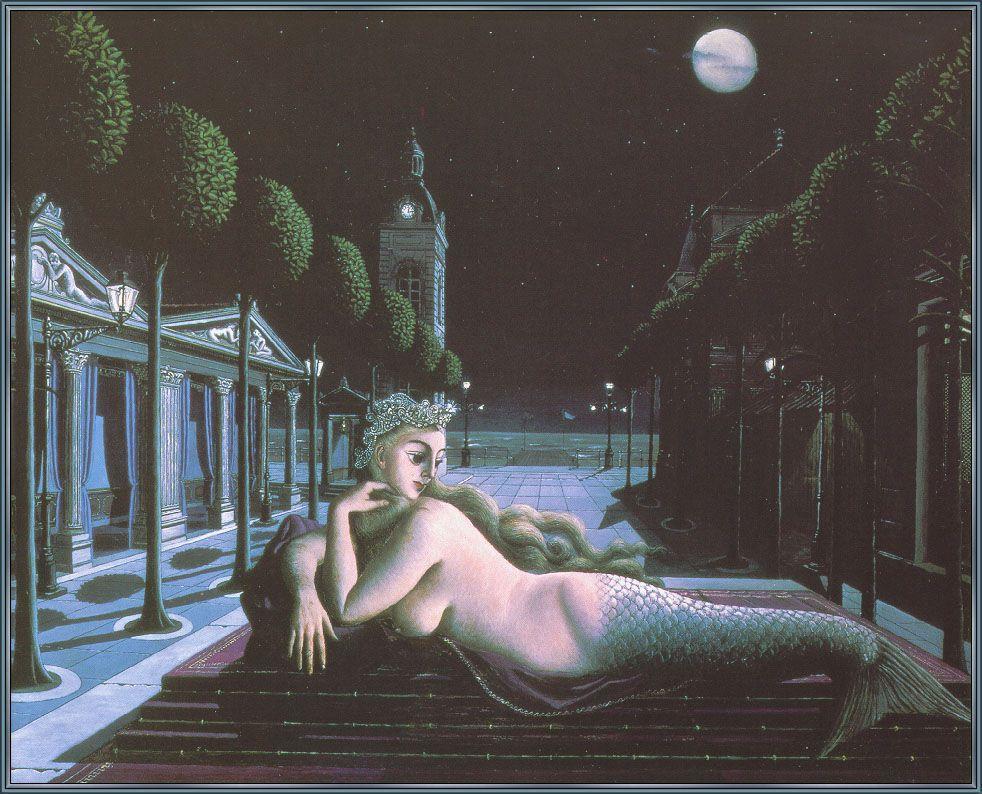 A Siren In Full Moonlight - Paul Delvaux