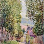 A Street in Louveciennes – Alfred Sisley